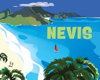 Nevis, St. Kitts Poster
