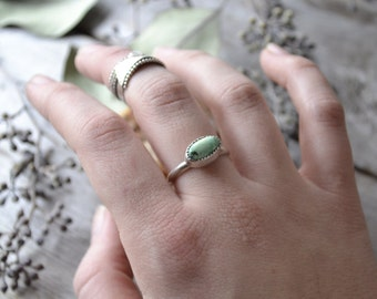 turquoise stacking ring // engagement ring //  orvil jack turquoise // size 8
