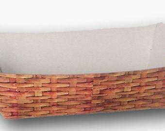 Nantucket Lightship Basket Paper Food Tray - Set of 12