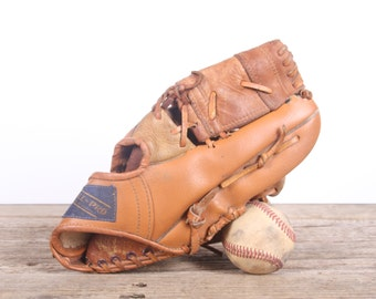 Old Leather Baseball Glove / Vintage Baseball Glove / All-Pro K-Mart Baseball Glove / Antique Baseball Glove / Old Glove Antique Mitt