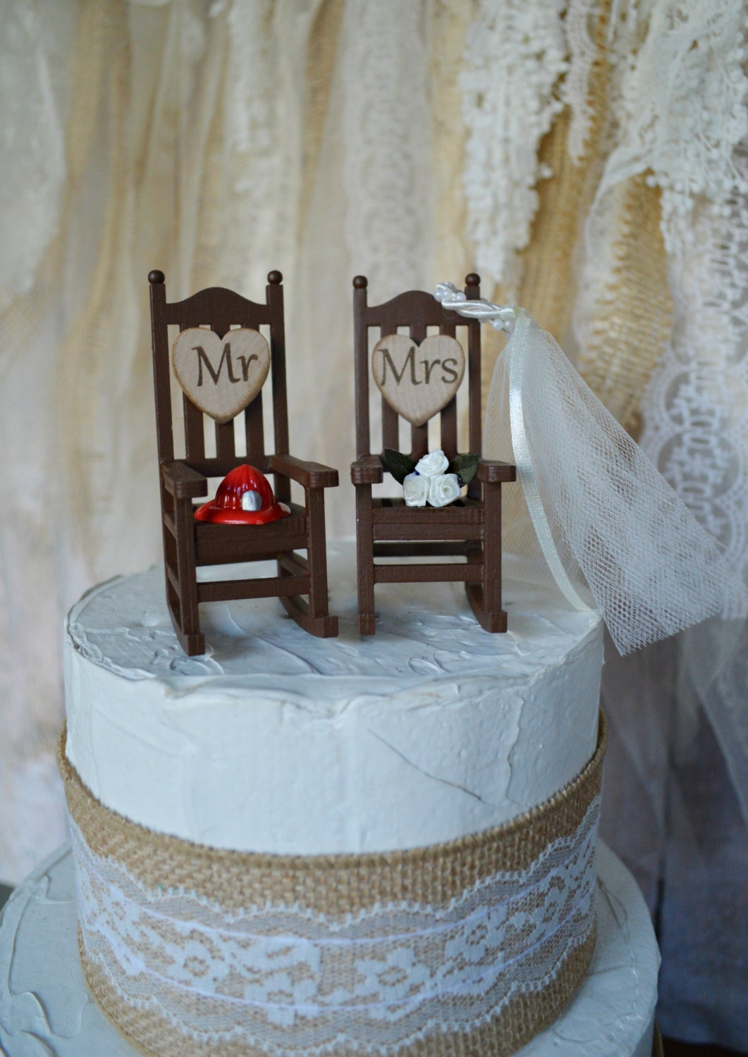 Fire Fighter Wedding Cake Topper Firefighter Themed Camping
