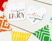 Thank You Gift Tags / Product Tags / Happy Mail Packaging / Product Packaging / Gift Wrap / Favor Tags / Packaging Supplies