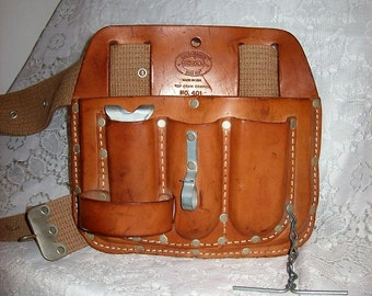 Vintage Nicholas Leather Electricians Pouch or Tool Belt No. 401 Only 20 USD
