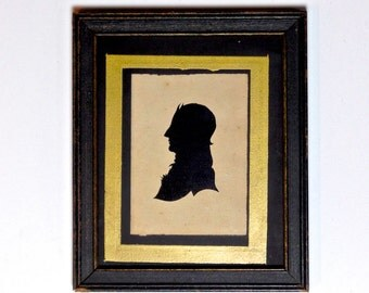 Antique American Silhouette Portrait