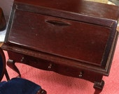 Writing Desk for Dollhouse or Diorama, Ladies Desk With Drawers