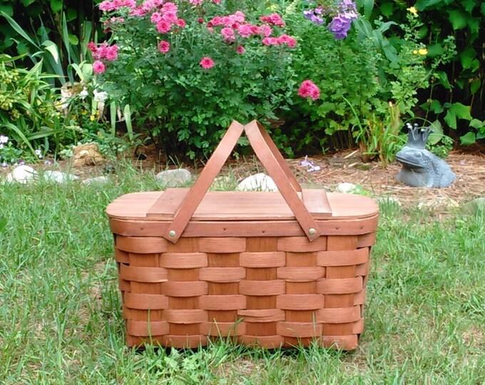 Vintage Wooden Weave Basket - Basketville Made in Vermont