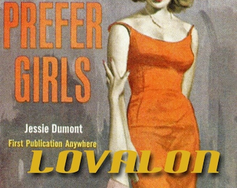 I Prefer Girls... Deluxe Fine Art Print... 1940's Vintage Pulp Fiction Illustration... Available In Various Sizes