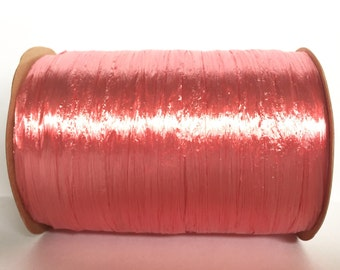 Pearl Coral Raffia Ribbon - 30/100 yards - 1/4 inch wide