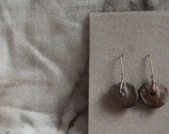 Earth earrings Ceramic/Silver