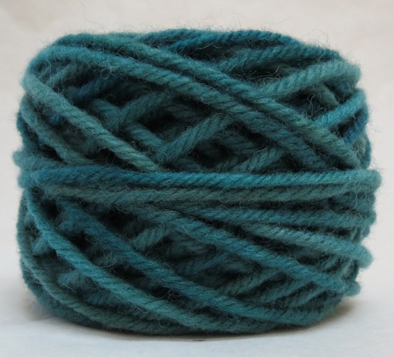 RIVER , 100% Wool, 2 ozs. 43 yards, 4-Ply, Bulky weight or 3-ply Worsted weight yarn, already wound into cakes, ready to use. Made to order.