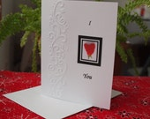 Valentine's Day Card, Blank or with Verse, Birthday Card, Romantic Card, Friendsip Card, Strawberry Card, Heart Card