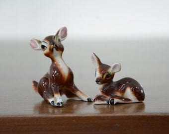 Miniature Deer Figurines