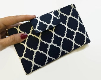 Women's Wallet, Credit Card Holder, Bi fold Wallet, Fabric Wallet, Mini Wallet, Card Organizer, Wallets