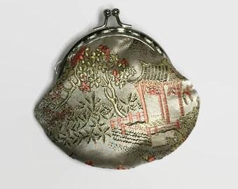 Chinese Silk Coin Purse, Small Coin Purse, Change Purse, Purse, Chinese silk coin purse