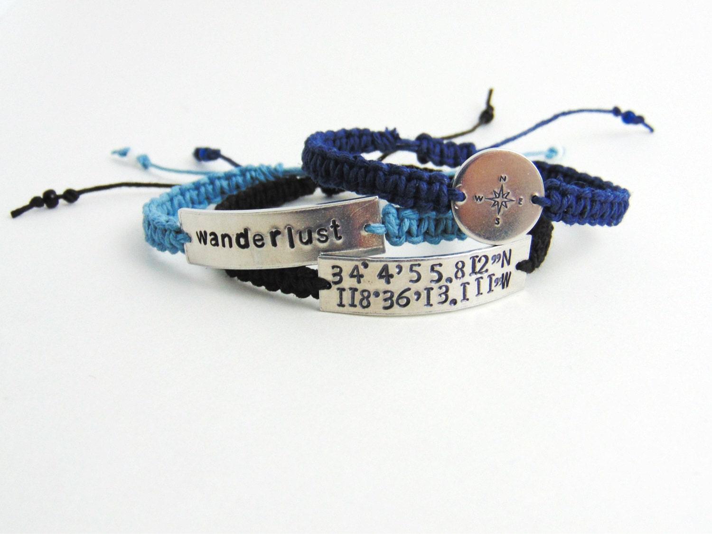 coordinate bracelet custom coordinates distance by