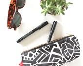 Makeup Case, Sunglasses Case, Pencil Pouch Case, Zipper Pouch, Womens Gift, Girft for Teen Girl