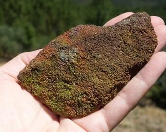 Rainbow Sandstone, Raw UK Mineral, British, English Sand Stone, Collectors Piece, RARE Display Specimen - 156g/100mm TRANSFORMATION (90-4)
