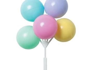Pastel Balloons Cake Topper
