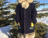 vintage authentic eskimo parka made by hand - 60s/70s