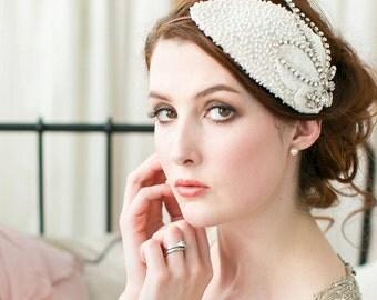 Celebration Beaded Bridal Cap no.6