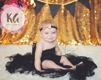 Gold Baby Headband - Baby Girl Headband - Baby Headbands - Baby Girl - Headband - Newborn Headbands - Baby - Infant Headband - Headbands