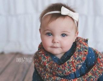 Baby Headband - Newborn Headband - Infant Headband - Girls Headband - White Headband - Baby Girl - Baby Bow Headband - Headbands for Baby