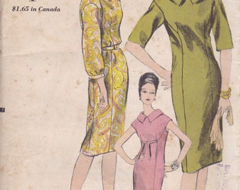 60s Sheath Dress Pattern Vogue 5944 Size 12