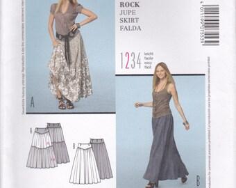 Long Gathered Skirt Pattern Burda 7553 Sizes 10 - 22 Uncut