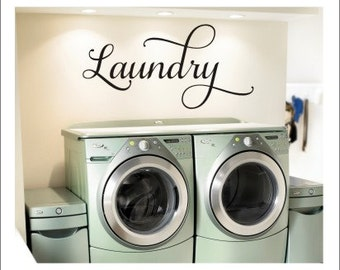 Laundry Wall Decal Laundry Room Decal Vinyl Wall Decal Laundry Vinyl Laundry Decor Laundry Room Decor Home and Living Vinyl Wall Decals