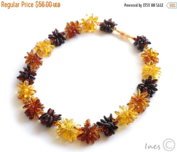 15% OFF THRU OCT New Baltic Amber Original Flower Necklace
