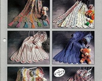 Annie's Mile A Minute Baby Afghans Crochet Pattern Annies Attic 268B