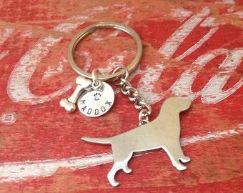 Labrador Retriever Custom Keychain Dog Lover.  Personalized.  Pendant.