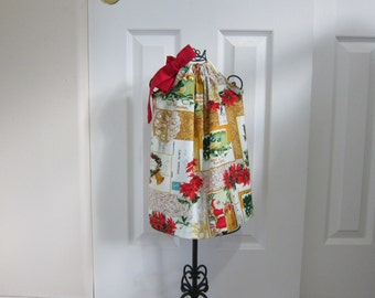 Pillowcase Dress  -  Christmas DRESS -  Vintage Inspired  Dress  -  Toddler  Girls  -  12 Month Dress -  Ready to ship  By Emma Jane Company