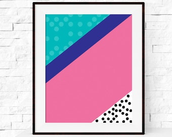 Colour Block Art Print