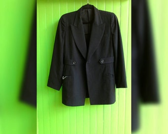 Vintage Classic Black Yohji Yamamoto Jacket Wool Japan Fashion 1990s Minimalist