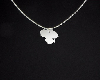 Lithuania Necklace - Country Necklace - Lithuania Jewelry - Lithuania Gift