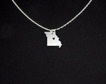 Missouri Necklace - Missouri Jewelry - Missouri Gift