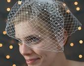 Bridal Birdcage Veil ~ Beautiful Bridal Swarvoski Rhinestone Birdcage Veil