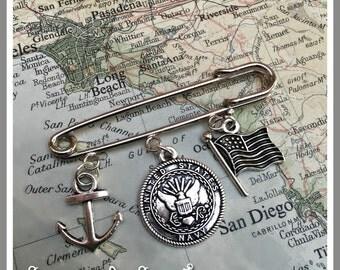 US Navy  pin by Sea Dream Studio free US shipping
