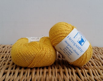 Cotton Yarn, Hemp Yarn, Sport Yarn, Elsebeth Lavold Hempathy, Natural Yarn, Vibrant Lemon 74