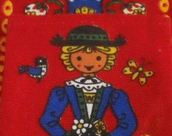 Vintage German Childrens' Wall Hanging and Wallet