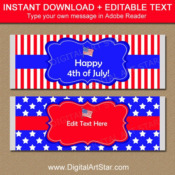 Patriotic Party Favors - 4th of July Party Ideas Printable ...