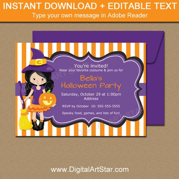 printable kids halloween invitation kids halloween birthday