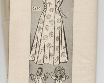 "1940's Marian Martin Sun Dress Pattern - Bust 38"" - UC/FF - No. 9430"