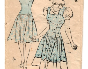 "1940's Jumper and Blouse with Puff Sleeves Pattern by New York - Bust 37"" - No. 531"