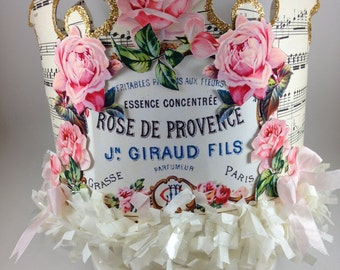 French Paris Crown with VIntage Roses