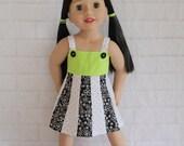 Totally Summer Panel Dress Green White & Black- Dolls Clothes for Australian Girl dolls