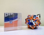 Labatt Blue Detroit Tigers Edition 2015 Beer Can Origami Ornament.  Upcycled Recycled Repurposed Art