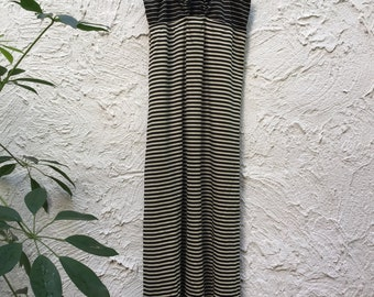 VINTAGE 1970's Saks Fifth Avenue Slinky Striped Dress