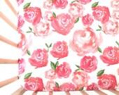 Crib Sheet Pink Peonies. Fitted Crib Sheet. Baby Bedding. Crib Bedding. Minky Crib Sheet. Crib Sheets. Floral Crib Sheet.